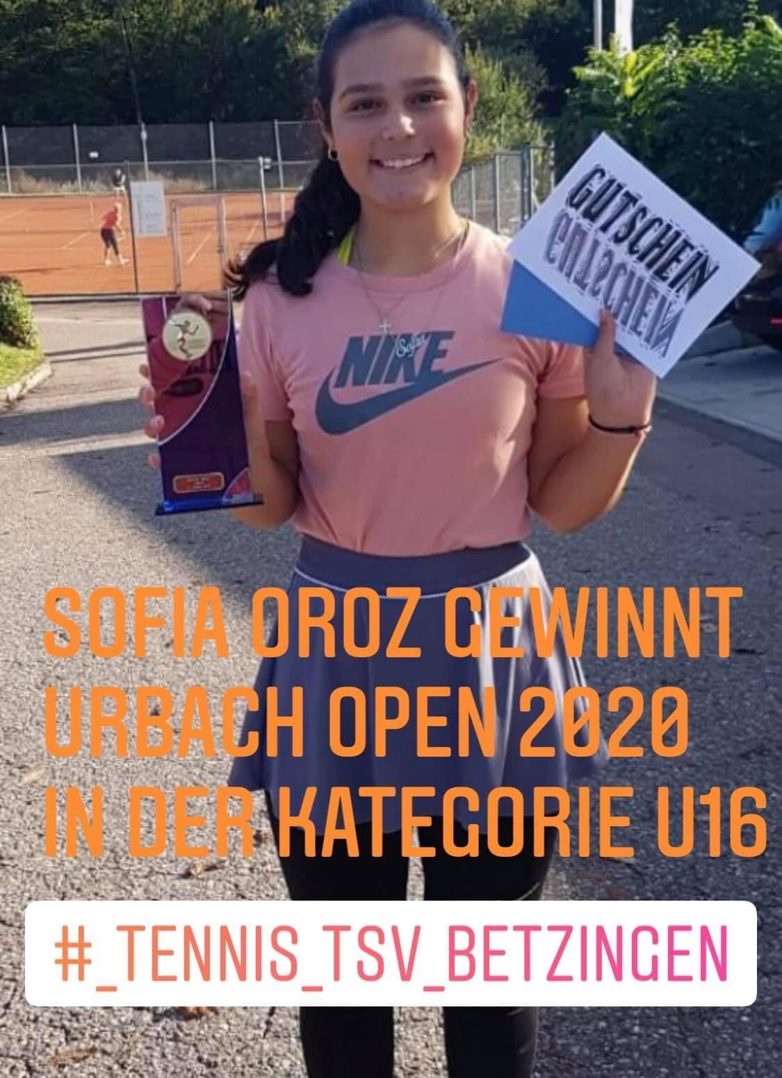 Sofia Oroz gewinnt Urbach Opel 2020