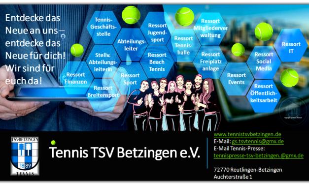 Wir sind für euch da – Tennis TSV Betzingen e.V.